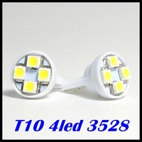 1000pcs T10 194 168 1210 4 LED 4 smd 3528 1210 high power LED light Led Indication Signal Bulbs white Door light