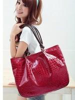 Hot sale new high quality PU leather stone grain shoulder handbag for more color women fashion bag/casual handbag
