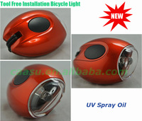 Free shipping! Mini high brightness and multi-color  Bike / Bicycle LED Flashlight / Light with battery