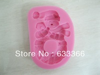 Free shipping 2013 New Arrival Christmas Series Cartoon Silicone fondant 3D cake tools mold , chocolate bakeware soap mold C122
