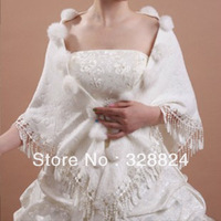 2013 New Women's Cashmere triangle shawl scarf scarves with rabbit fur