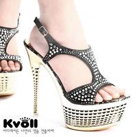 2013 women's shoes super high platform 15cm ultra high heels sexy sandals rhinestone party shoes