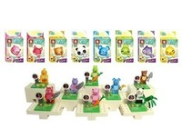 New Hot 8pcs plastic Building Blocks sets eductional bricks blocks animal minifigures action figures kids toys christmas gifts