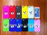 Rown bear design cover case For Apple 5C case,Free shipping.