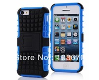 New Heavy Duty High Impact Hybrid Rugged Hard PC+TPU Combo Skin Cover Protector Case for iPhone 5C with Kickstand, Free Shipping