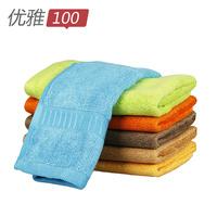 free shipping Elegant 100 solid color towel bamboo fibre towel beauty towel squareinto child towel antibiotic mites