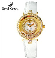 Royal Crown Ladies Vintage Luxury Watches Designer Quartz Watch Women's Casual Rhinestone Watches Waterproof Relogio Feminino