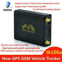 Newest GPS GSM Tracking System Vehicle GPS Tracker TK106A Quad-band Support Fuel Sensor Camera Rastreador Free shipping