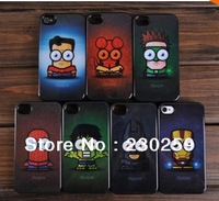 Super hero cartoon hard case cover skin for iphone 5 5G iphone 4 4s 4g  case fashion free shipping