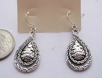 Silver Tone Elegant Drop Earrings