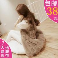 Fur women's medium-long fur vest wool fur coat vest overcoat