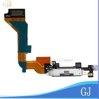 wholesale for iphone 4 accessories, Charger Dock Connector Flex Cable for iphone 4G,Black  100 pcs/lot, Free Shipping