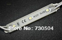 3pcs 3528 SMD white color 5500-6500K LED module, DC12V input, waterproof