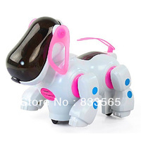 Free shipping Red Robotic Cute Electronic Walking Pet Dog Puppy Kids Toy With Music Light IA441