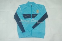 2014 Top quality Real Madrid jackets,Free shipping Real Madrid Training suit home sky blue with embroidery logo