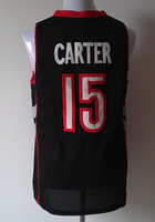 Newest!!Wholesale & Retail Top Quality embroidery Toronto #15 Carter Basketball Jersey Blue Men's Sport Jersey Free shippin