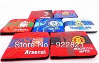 New arrival!!Free shipping retailing canvas football fan wallet/purse with big european clubs' Team logo,football fan souvenirs