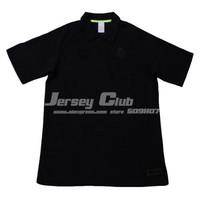 Free shipping 2014 Thailand quality Real madrid POLO Shirts Black real madrid shirts