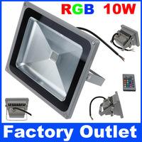 50W RGB LED Floodlight Changeable Colorful Light Bulb  With 24Keys IR Remote For Home Garden Square Wall