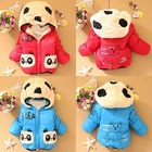 Kids Baby Winter Jackets Girl Boys Hoodies Fleece Animal Panda Coats Size 6-24M(China (Mainland))