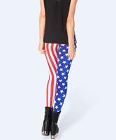 american flag 2013 New Women pants Shiny BLACK Milk Leggings OEM Digital Print KIDS IN AMERIKA LEGGINGS K162