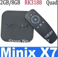 Wholesale Price MINIX NEO X7mini Quad core RK3188 2G 8G TV BOX set top box Android 4.2.2 rk3188 Bluetooth V4.0 android tv box