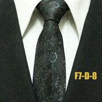 New Arrival Gatsby Fashion Men`s Neckties For Men Novelty Black Floral Business Exquisite Man Ties Gravatas 7CM F7-D-8
