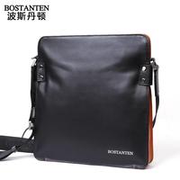Popular Brand Fashion Design 100% Cowhide Messenger Bags Men Genuine Leather Shoulder Bags For iPad E75