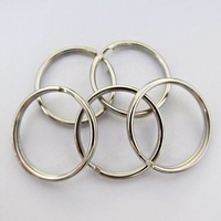 Good Factory Price,200Pcs Split Keyring 25mm Key Ring Chain Loop Pocket Photo Clasps Connectors Silver,High Quality
