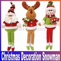 Merry Christmas Decoration New year arvore de natal Tree Rag Doll Children Toys Snowman Deer Santa Claus Ornament navidad Gift