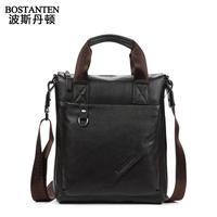 Fashion Men's Tote 100% Genuine Leather Shoulder Bag messenger bag Briefcase Brown and Black B10102 E70