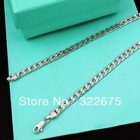 Free shipping , 4mm figaro chain men jewelry 925 sterling silver chain man sterling chain,sale items,factory price
