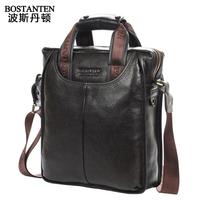Fashion genuine leather men shoulder bags, Quality Guaranteed Bostanten bag,Authentic brand men bags, business brief case E60