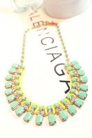 Mint green decoration necklace female short design clothes accessories banquet fashion chain