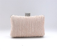 Brief pleated small fresh bags cross-body fashion clutch Women day fashion vintage banquet clutch bag champagne