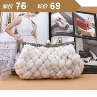 Women's handbag small bag female mini cross-body clutch women's 2013 evening bag banquet bag white
