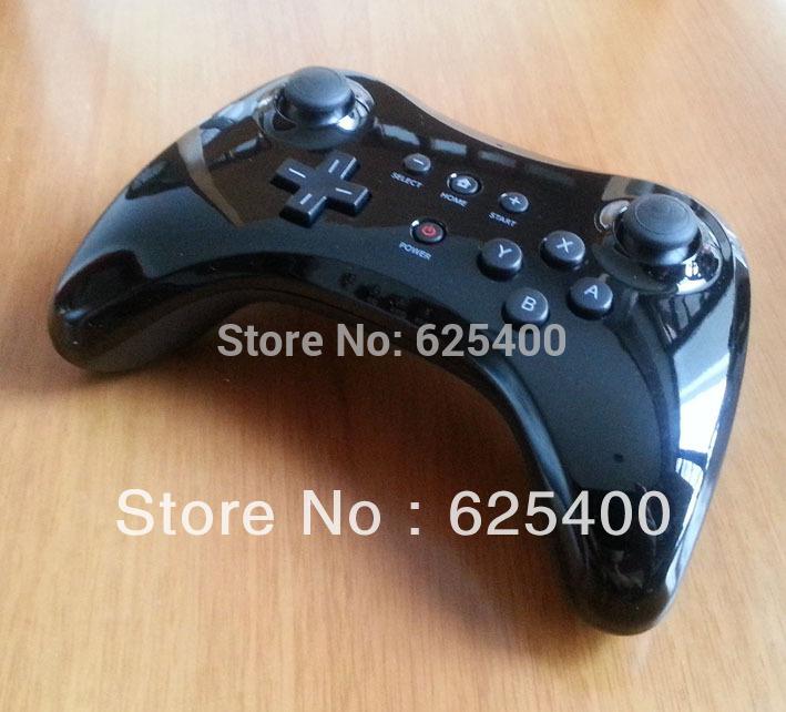 10pcs/lot 2014 Hot Selling Wireless Joystick Gamepad Game Video Controller For Wii U WiiU Pro Controller Black FAST SHIPPING(China (Mainland))