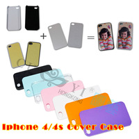Sublimation Phonecase 100 sets/lot  Sublimation Cover Case For 4/4s  7 Colors