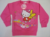 free shipping wholesale children's clothing auttum kids tshirt cartton long sleeve hello kitty cotton tshirt T-shirt for girls
