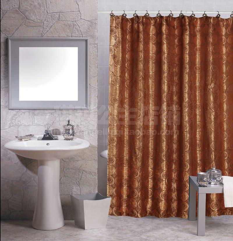 2014 bath European Luxury Shower Curtain Golden Bronze