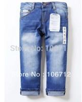 Free shipping Retail fashion cool cotton denim boys jeans brand children's long pants for 2-10 years kids girls pants 1pcs