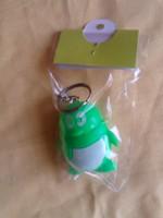 free shipping! Penguin luminous keychain , qq with light flashlight