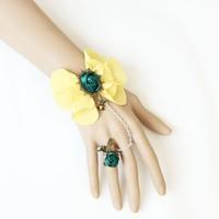 unique mysterious vampire style gothic lace flower bracelet