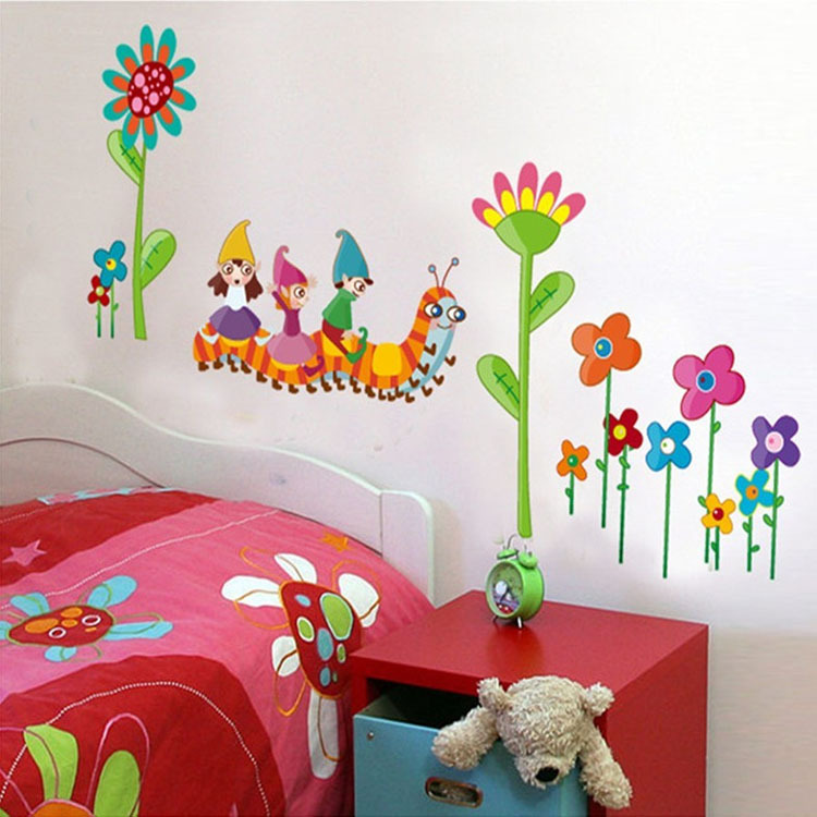 Shop popular baby wall murals from china aliexpress for Mural art designs for bedroom