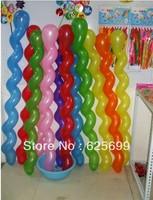 Free shopping 300pcs/bag Thicker screw twist balloon festival balloon toy balloons children