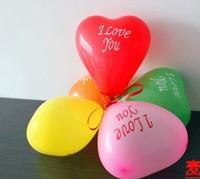 Free shopping 100pcs/bag Heart shaped balloon wedding balloon festival multicolor heart-shaped bubble thicker latex balloon