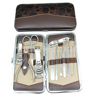 12Pcs Nail Care Vogue Personal Manicure & Pedicure Set Travel Grooming Kit
