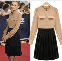 Free shipping 2013 women fashion clothes slim dress thin temperament ladies cute sweet skirt one piece dress