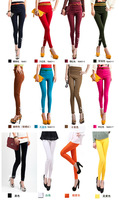 Free Shipping 2013 new waist leggings autumn/winter waist candy colored slim fit pencil jeans for women 20 colors