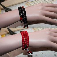 Black red agate lovers male women's bracelet jade lotus pendant beads bracelet lovers